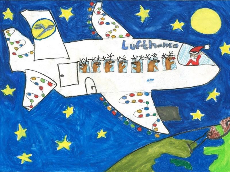 Lufthansa Group | Newsroom : Friedberger Schüler malen Lufthansa ...