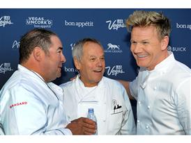 Emeril Lagasse, Wolfgang Puck and Gordon Ramsay