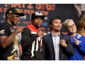 Mayweather and Pacquio camps 22