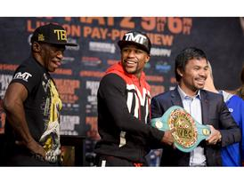 Mayweather and Pacquio camps 23
