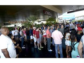 Fans arrive at the MGM 4615