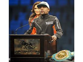 Mayweather addressed press post fight 3809