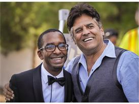 Manny Davis and actor Erik Estrada