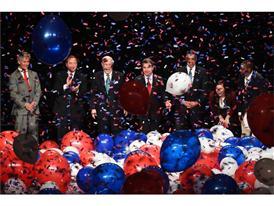 Confetti and balloon drop