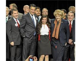 2016 Presidential Debate press conference photo opp