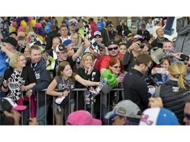 Fans at NASCAR Kobalt 400