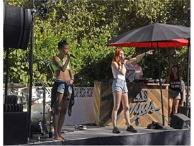 Icona Pop performs during the #WHHSH Las Vegas Party in Palm Springs