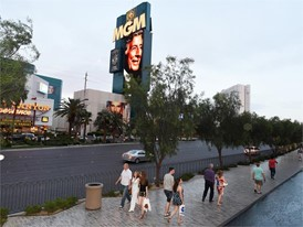 Tony Bennett tribute, MGM Grand marquee
