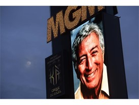 MGM marquee, Tony Bennett tribute