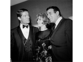 Stephen Boyd, Jill St. John and Tony Bennett at the Riviera