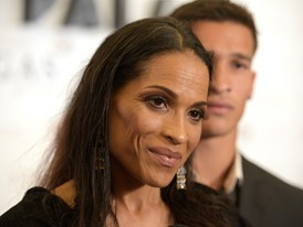 Muhammad Ali's Daughter Rasheda Ali Walks the Red Carpet at the 50th Anniversary Gala for Caesars Palace in Las Vegas