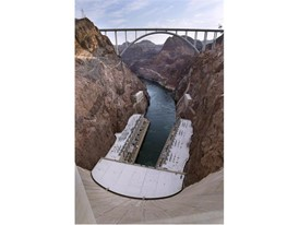 The Mike O'Callaghan-Pat Tillman Memorial Bridge and the Hoover Dam