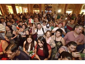 El Grito celebration at Forum Shops