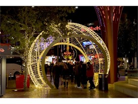 The ornament tunnel at The Park