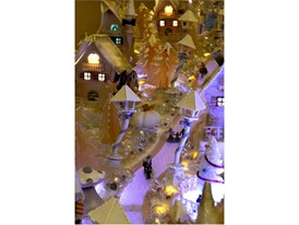 Four Seasons Gingerbread Village