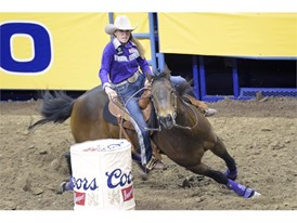Barrel racer Pamela Capper