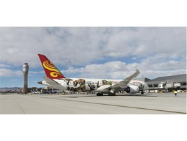 Hainan Airlines touches down at McCarran International Airport