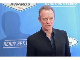 Sting arrives on the red carpet for the annual NASCAR Sprint Cup Series Awards
