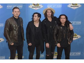 The band American Authors arrives on the red carpet for the annual NASCAR Sprint Cup Series Awards