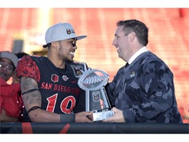 San Diego State running back Donnel Pumphrey Jr. is MVP