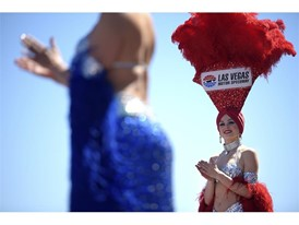 Showgirls wait for driver introductions