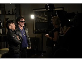 Arnel Pineda, left, and guitarist Neal Schon