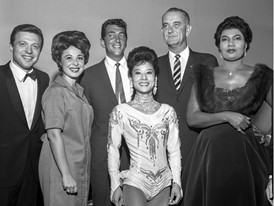 Dean Martin, Lyndon Johnson, Pearl Bailey, Steve Lawrence, Eydie Gorme
