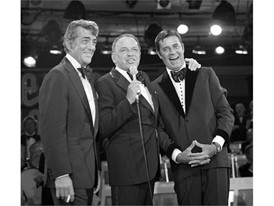 Frank Sinatra reunites Jerry Lewis and Dean Martin