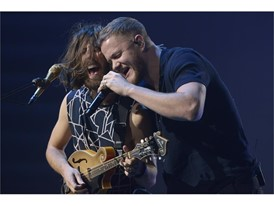 Wayne Sermon, left, and Dan Reynolds of Imagine Dragons