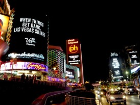 Las Vegas Dims Lights to Honor Victims and Heroes