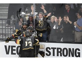 Vegas Golden Knights celebrate a goal