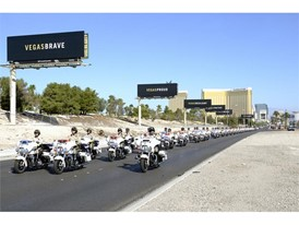 A processional to honor Las Vegas Metropolitan Police Officer Charleston Hartfield