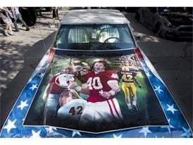 The paint on a 1968 Chevrolet Impala honors Arizona Cardinals football star and war hero Pat Tillman at the SEMA Show