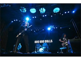 The Goo Goo Dolls perform during the Rock 'n' Roll Las Vegas Marathon 5K run