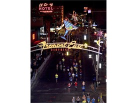 Marathon runners in Downtown Las Vegas