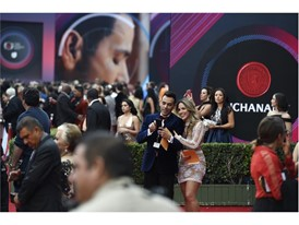 Red carpet area for the 2017 Latin Grammy Awards