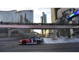 Monster Energy NASCAR Cup Series driver Jamie McMurray does a burnout