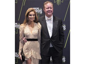 NASCAR Chairman and Chief Executive Officer Brian France and his wife Amy France