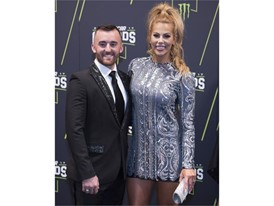 Austin Dillon and his fiancee Whitney Ward