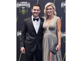 Kyle Larson and his girlfriend Katelynn Sweet