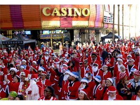 2017 Great Santa Run event in downtown Las Vegas