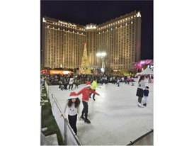 Ice skating rink at Holiday at the Park