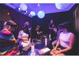 Attendees Experience Vegas Virtual Reality Artwork during Miami Art Week