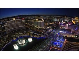 View of the Las Vegas Strip as seen from the Eiffel Tower replica at Paris Las Vegas