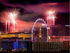 Las Vegas Shines for New Year's Eve 2018