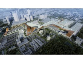 Aerial overall conceptual rendering, Las Vegas Convention Center District Phase Two Expansion