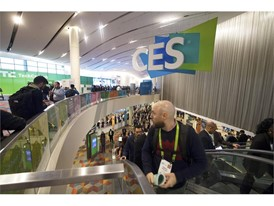 A general view of the hallway during the first day of CES