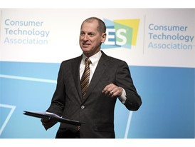 Consumer Technology Association President and CEO Gary Shapiro speaks during the second day of CES