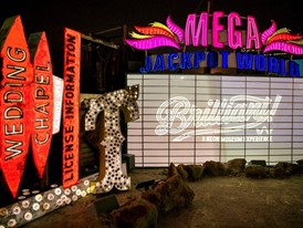 'Brilliant!'  features digital projection recreations of the lighting on some of Las Vegas' most famous neon signs