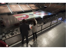 Ticket holders get a look at what the arena will look like during games